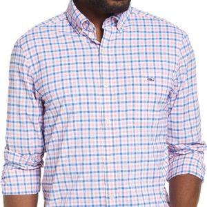 Vinyard Vines Knock out Pink Button Down Shirt L